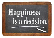 La felicidad es una decisión Imagen de archivo libre de regalías