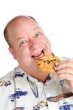 La felicidad es una galleta de viruta de chocolate Imágenes de archivo libres de regalías