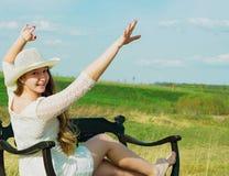 La felicità è di essere io stesso! Immagini Stock Libere da Diritti