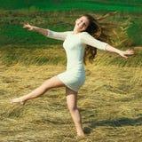 La felicità è di essere io stesso! Immagine Stock Libera da Diritti