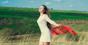 La felicità è di essere io stesso! Fotografia Stock Libera da Diritti