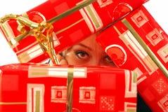 La felicità è un regalo non imballato Immagini Stock Libere da Diritti