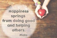 La felicità balza Platone fotografie stock