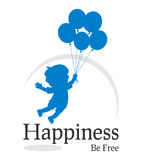 La felicità è marchio libero Fotografia Stock