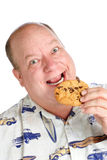 La felicità è un biscotto di pepita di cioccolato Immagini Stock Libere da Diritti