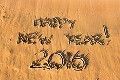 La Feliz Año Nuevo de la inscripción Fotos de archivo libres de regalías