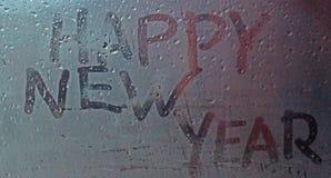 La Feliz Año Nuevo de la inscripción Fotografía de archivo