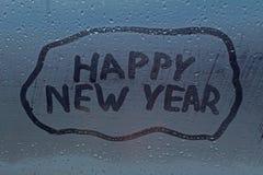 La Feliz Año Nuevo de la inscripción Imagen de archivo