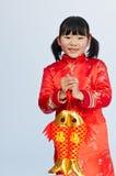 Feliz Año Nuevo de la niña Imagenes de archivo