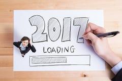 La Feliz Año Nuevo está cargando Imagen de archivo