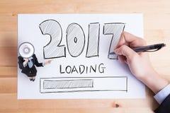 La Feliz Año Nuevo está cargando Foto de archivo
