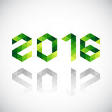 La Feliz Año Nuevo 2016 hizo en estilo poligonal de la papiroflexia Imagen de archivo