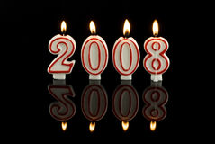La Feliz Año Nuevo mira al trasluz 2008 Foto de archivo libre de regalías