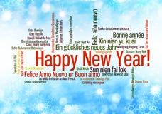 La Feliz Año Nuevo redacta la nube Fotos de archivo