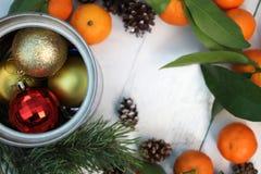 La Feliz Año Nuevo y casa la Navidad Imagenes de archivo