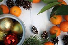 La Feliz Año Nuevo y casa la Navidad Foto de archivo