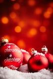 La Feliz Navidad adorna el fondo Imágenes de archivo libres de regalías
