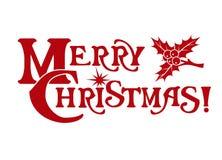 La Feliz Navidad de la inscripción Fotos de archivo