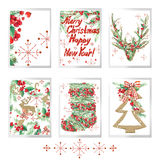 La Feliz Navidad de la acuarela fijó para las tarjetas de felicitación del día de fiesta Fotografía de archivo
