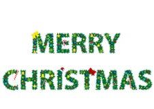 La Feliz Navidad de las palabras Fotografía de archivo libre de regalías