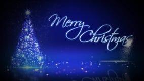 La Feliz Navidad del árbol de navidad de la partícula estalla el lazo 4K libre illustration