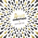 La Feliz Navidad y el oro elegante del Año Nuevo diseñan Imagen de archivo libre de regalías