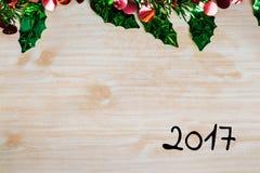 La Feliz Navidad y la celebración de la Feliz Año Nuevo diseñan con los copys Fotos de archivo libres de regalías