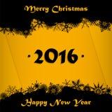 La Feliz Navidad y la Feliz Año Nuevo 2016 cardan el fondo Imagen de archivo