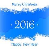 La Feliz Navidad y la Feliz Año Nuevo 2016 cardan el fondo Imagen de archivo libre de regalías