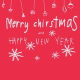 La Feliz Navidad y la Feliz Año Nuevo redactan el ejemplo Imágenes de archivo libres de regalías