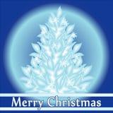 La Feliz Navidad y la Feliz Año Nuevo vector el saludo Fotos de archivo libres de regalías