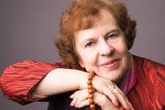 La femme âgée gaie. Photos libres de droits