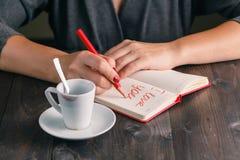La femme écrivent le message d'amour Image libre de droits