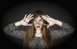 La femme-énigme. photo stock