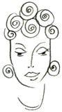 La femme africaine Photo stock