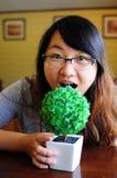 La femme ait faim Photographie stock libre de droits