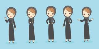 La femme arabe font le geste différent Image stock