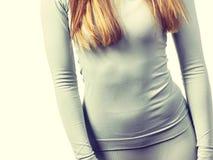 La femme convenable thermolinen dedans des sous-vêtements Photos stock