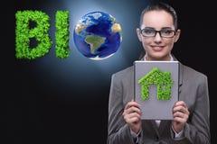 La femme d'affaires dans recyling le concept viable d'affaires Image libre de droits