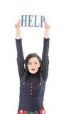 La femme d'affaires demande l'aide Photo libre de droits