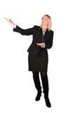 La femme d'affaires entre deux âges affiche? image libre de droits