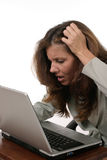 La femme d'affaires a frustré 5 photo libre de droits