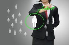 La femme d'affaires (heure) a sélectionné le talent de personne Photographie stock libre de droits