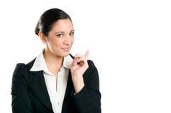 La femme d'affaires informent image stock