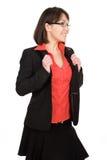 La femme d'affaires a isolé Image libre de droits