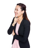 La femme d'affaires pensent à quelque chose photos libres de droits