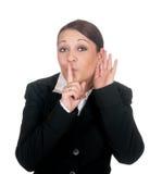 La femme d'affaires prie pour l'attention photographie stock libre de droits