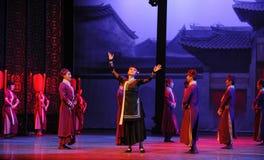 La femme de charge - le premier acte des événements de drame-Shawan de danse du passé Photographie stock