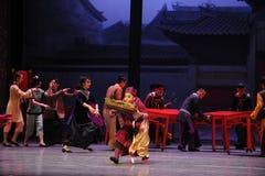 La femme de charge - le premier acte des événements de drame-Shawan de danse du passé Photo libre de droits