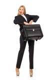 La femme de femme d'affaires voyageant avec la valise Photo libre de droits